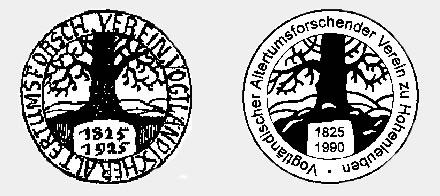 Geschichte - Logo des Vereins zum 100jährigen Bestehen und Logo des Vereins zur Neugründung 1990