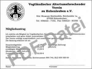 Mitglied werden im VAVH,  PDF-Datei für den Mitgliedsantrag